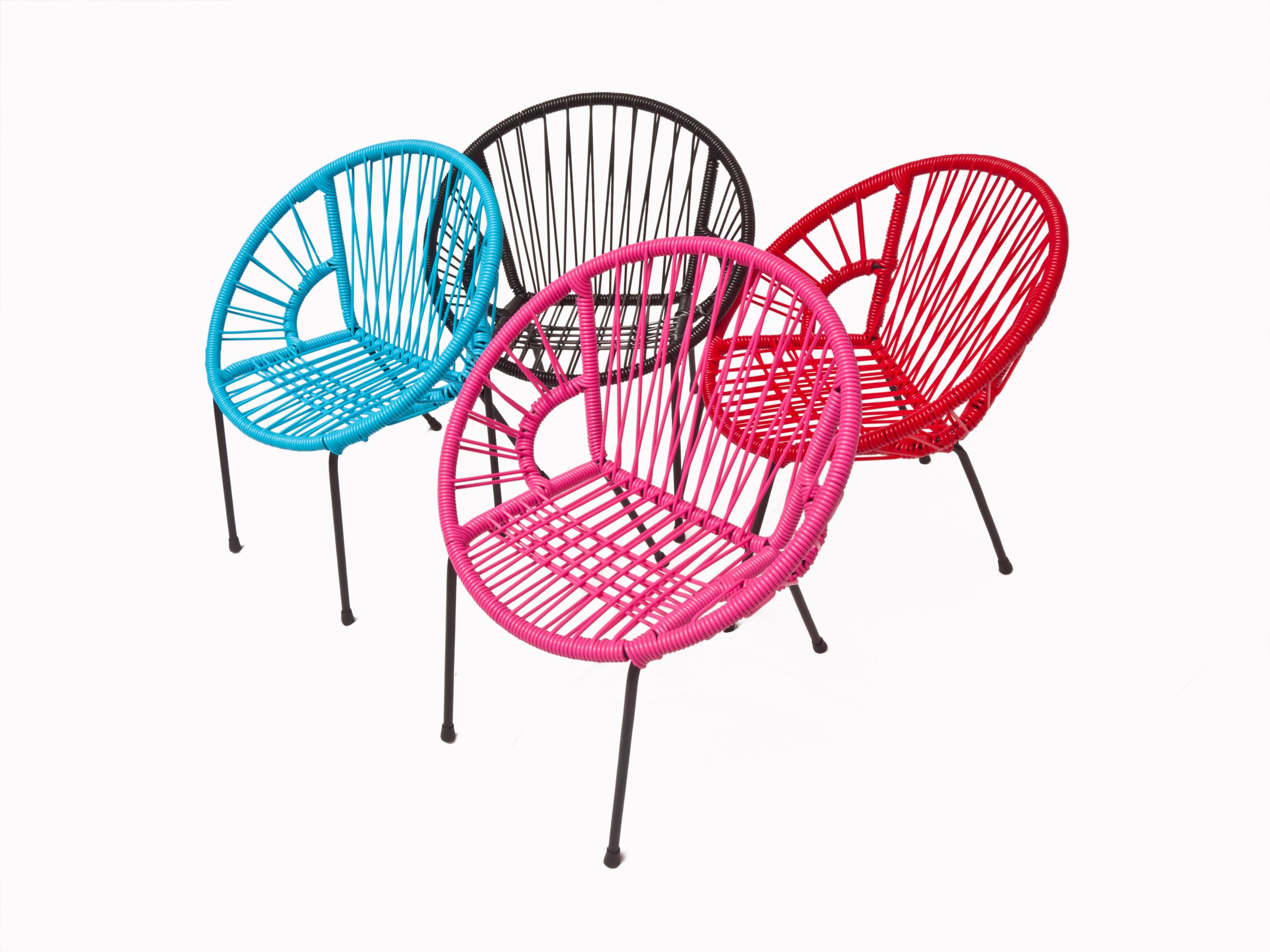 chaise tica scoubidou. Black Bedroom Furniture Sets. Home Design Ideas
